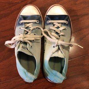 Special Edition Ombré Blue Converse Sneakers